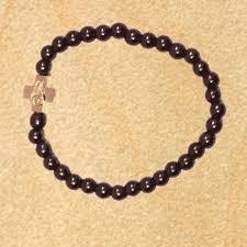 black prayer bracelet images Prayer bracelet with black hematite beads gold tone cross jpg