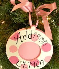 personalized custom photo ornament birth announcement design 1st