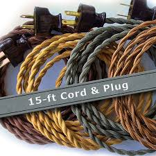 Cloth Cord Pendant Light Pendant Light Cord 15ft Cloth Covered Wire Vintage Style