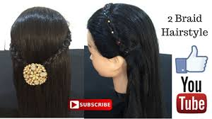 2 braid hairstyle for college 2 braid hairstyles for open hairs