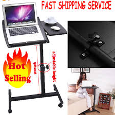 Rolling Laptop Desk by Mobile Laptop Desk Rolling Cart Pad Table Stand Computer