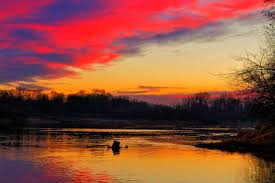 beautiful sunset the river sky free photo and
