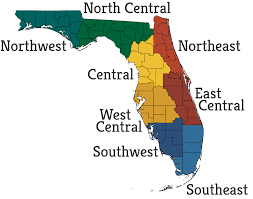 Map Of Northeast Florida by Fpan Regions Of Fpan