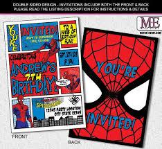 best 25 spiderman birthday invitations ideas on pinterest super