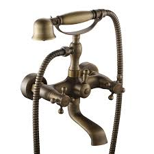 vintage bathtub faucets luxurious antique brass bath shower mixer tap traditional wall