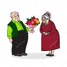 flowers for men happy elderly with a bouquet of flowers elderly