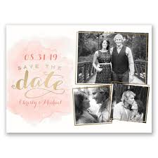 foil stamped save the dates invitations by dawn