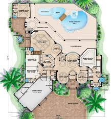 mediterranean style house plan 5 beds 5 baths 7760 sq ft plan