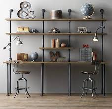 pipe desk with shelves antique inspired pipe desks pipe desk