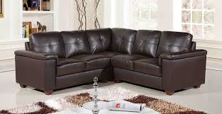 Small Sofa Leather Black Leather Sofa With Brown Wooden Legs Placed On The