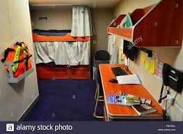 Boat Bunk Bed Interior Of A Living Cabin With Bunk Beds On Naval Ship Patrol