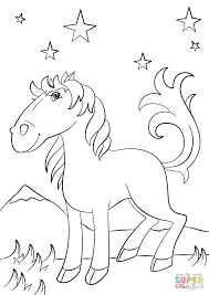 cartoon mustang horse coloring page free printable coloring pages