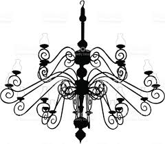 Black Chandelier Clip Art Light Fixture Clip Art Vector Images U0026 Illustrations Istock