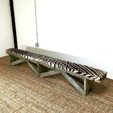 image of leather extra long storage benchextra bench scraper