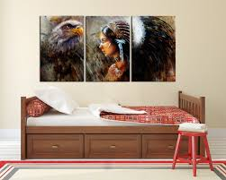 aliexpress com buy 3 panels native american indian beauty girl aliexpress com buy 3 panels native american indian beauty girl side face paintings wall decor indian women beauty and horse eagle art print framed from