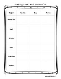 weekly lesson plan template pacq co notes prepar elipalteco