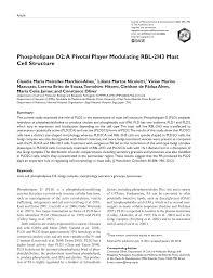 Sho Jamur phospholipase d2 a pivotal player pdf available