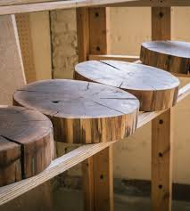 Salvaged Wood by Salvaged Walnut Tree Round Cheese Board Features Reclaimed Wood