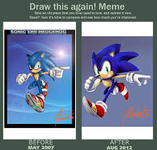 Sonic The Hedgehog Meme - draw this again meme with sonic the hedgehog by dody inferno on