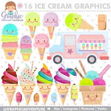 ice cream clipart ice cream clipart ice cream graphics commercial use kawaii