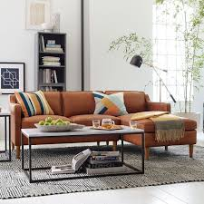 Leather Sectional Sofa Chaise by Hamilton 2 Piece Leather Chaise Sectional Sienna West Elm