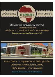 cuisine dunkerque le baobab à dunkerque carte menu et photos