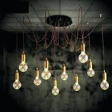 large bulb pendant light vintage industrial glass three bulb