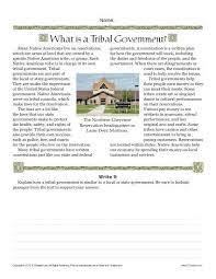sixth grade reading comprehension worksheet what is tribal