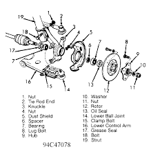 how do i seperate the hub from the rotor to get the 4 bolts out to