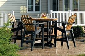 poly lumber outdoor furniture and resin outdoor dining sets white