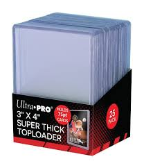 amazon com 25 ultra pro 3 x 4 top loader card holder for