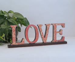 love sign wooden word sign annie blue home decor