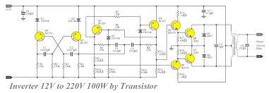 transistor inverter circuit 12v to 220v 100w inverter converter