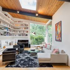 mid century modern living room ideas living room midcentury with mid century modern living room ideas living room midcentury with floating bookshelves upright piano sectional couch