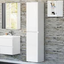 Tall Bathroom Cabinet by Bathroom Cabinets Cove White Tallboy Bathroom Cabinet Gloss