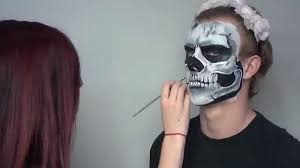 easy skull face paint tutorial youtube