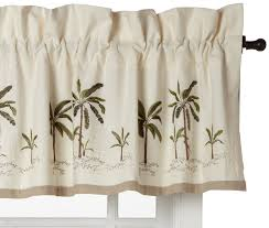 Wide Rod Valances Amazon Com Croscill Fiji Tailored Valance Home U0026 Kitchen