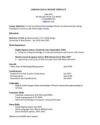 resume templates for word 2003 cover letter free chronological resume template free chronological cover letter chronological resume for joblers chronological templatefree chronological resume template extra medium size