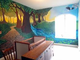 the talking walls fantastical forest nursery mural d o n e kids forest mural nursery mural portland muralist kids room mural portland forest
