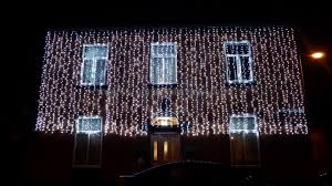 outside party outside house lights white christmas decorating ideas five