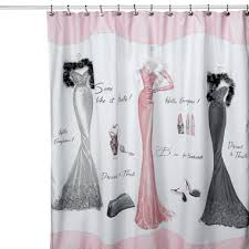 the cheap shower curtains go glam