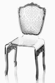 chaise en plexiglas chaise baroque plexiglas motif blanc acrila spécialiste du