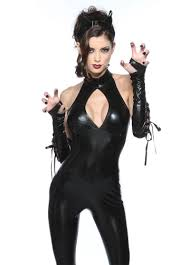 Pink Panther Halloween Costume Womens Deluxe Black Panther Catsuit Halloween Costume