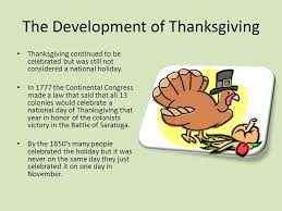 history of thanksgiving from the pilgrims to us what is