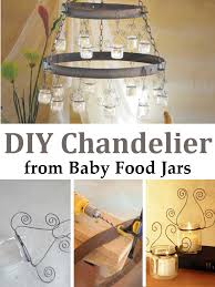 home design diy beautiful chandelier recycled baby food jars homedecor