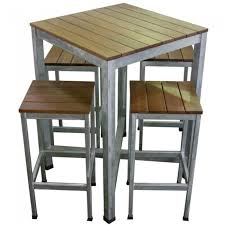 Outdoor Bar Table Set Outdoor Bar Table And Stools Dining Table