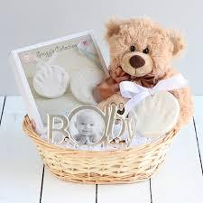 ornament imprint kit new baby gift basket neutral colour baby hamper