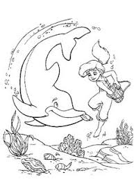 mermaid coloring pages disney coloring pages