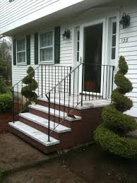 stair design white home wooden front door stone accents stairs designs ideas