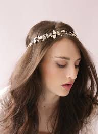 hair crystals tiny enamel blossom and hair vine style 419 twigs